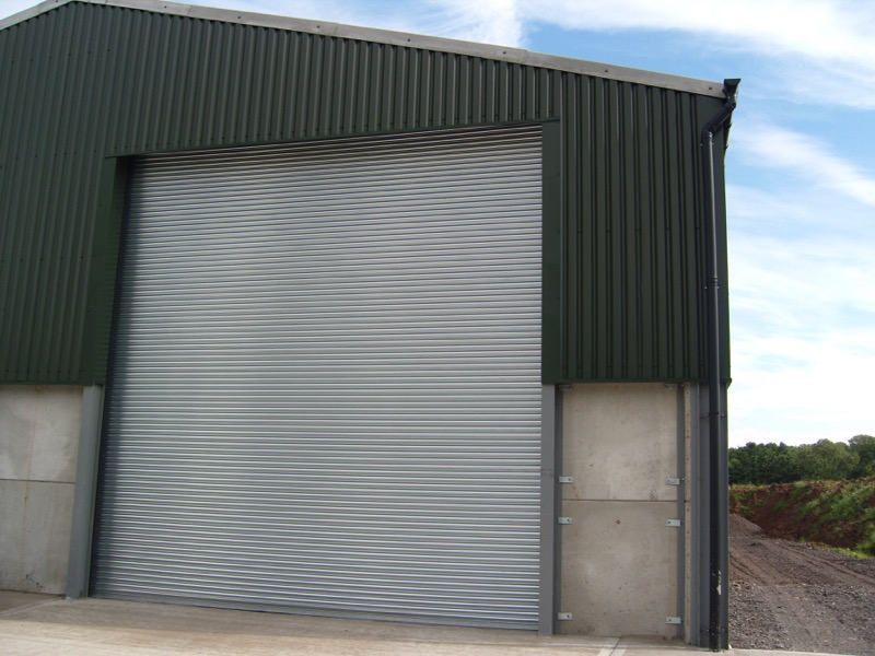 S76 Galvanised Grain Store Industrial Security Shutter